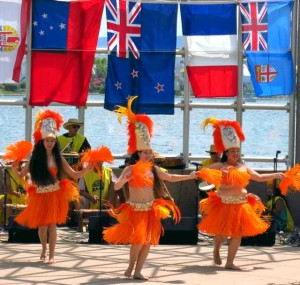 Entertainment at the pavilion (e.g., Tahitian dancers)