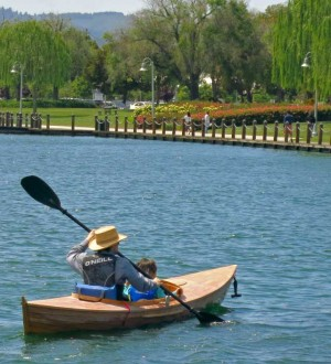 Kayaking is fun on the 16.5 miles of Foster City Lagoon