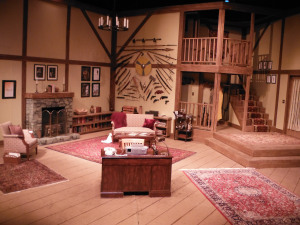 "Hillsbarn Theater Set ... designed for Ira Levin's famed mystery play ""Deathtrap"""